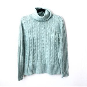 NWOT J. Crew Light Blue Turtleneck Sweater